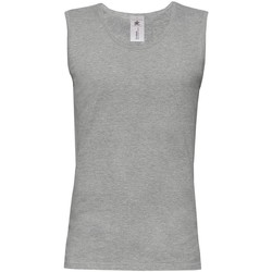 textil Herr Linnen / Ärmlösa T-shirts B And C BA110 Sport Grå