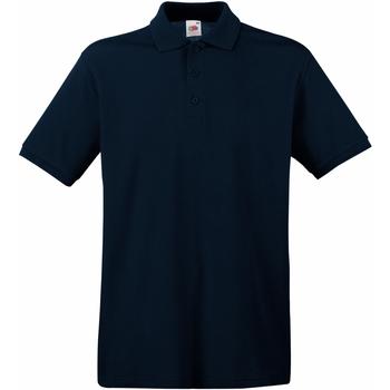 textil Herr Kortärmade pikétröjor Fruit Of The Loom 63218 Djupt marinblått