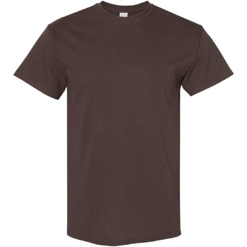 textil Herr T-shirts Gildan Heavy Mörk choklad