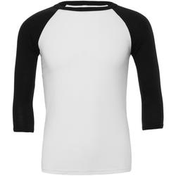 textil Herr Långärmade T-shirts Bella + Canvas CA3200 Vit/Svart