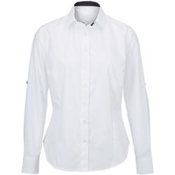 textil Dam Skjortor / Blusar Alexandra AX060 Vit/ svart