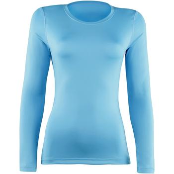 textil Dam Långärmade T-shirts Rhino  Ljusblå