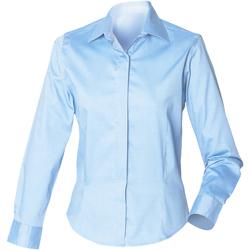 textil Dam Skjortor / Blusar Henbury HB551 Ljusblå