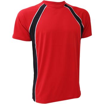 textil Herr T-shirts Finden & Hales LV250 Röd/Svart/Vit