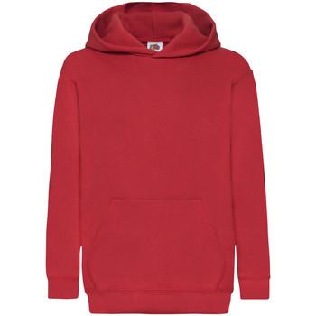 textil Barn Sweatshirts Fruit Of The Loom 62043 Röd