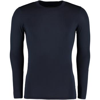 textil Herr Långärmade T-shirts Gamegear Warmtex Marinblått