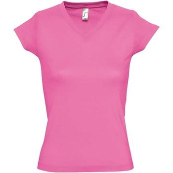 textil Dam T-shirts Sols Moon Orkidé rosa