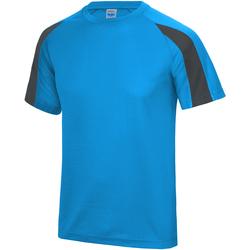textil Herr T-shirts Just Cool JC003 Safirblått/ träkol