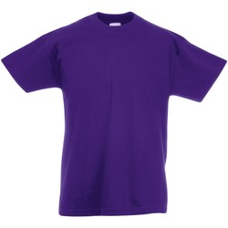 textil Barn T-shirts Fruit Of The Loom 61019 Lila
