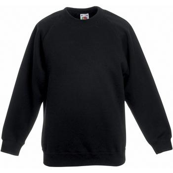 textil Barn Sweatshirts Fruit Of The Loom 62039 Svart