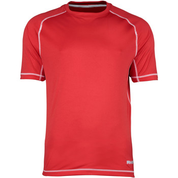 textil Herr T-shirts Rhino RH041 Röda/vita sömmar