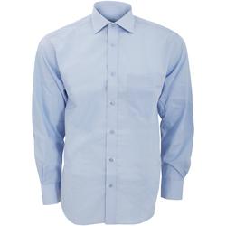 textil Herr Långärmade skjortor Kustom Kit KK116 Ljusblå