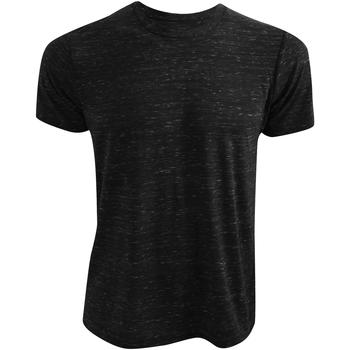 textil T-shirts Bella + Canvas CA3650 Svart marmor
