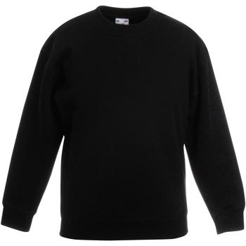 textil Barn Sweatshirts Fruit Of The Loom Classic Svart