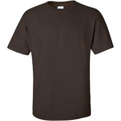 textil Herr T-shirts Gildan Ultra Mörk choklad