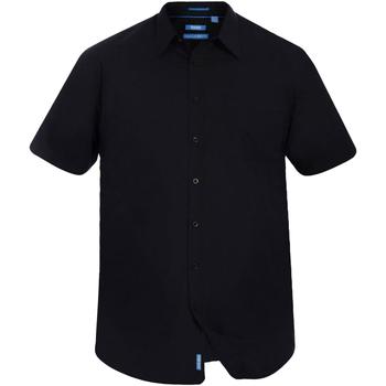 textil Herr Kortärmade skjortor Duke  Svart