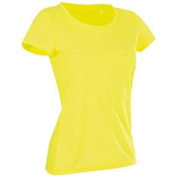 textil Dam T-shirts Stedman Cotton Touch Cyber Yellow