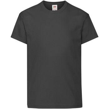 textil Barn T-shirts Fruit Of The Loom 61019 Svart