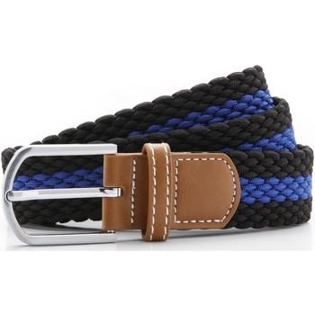 Accessoarer Herr Bälten Asquith & Fox Two Colour Stripe Svart/Royal