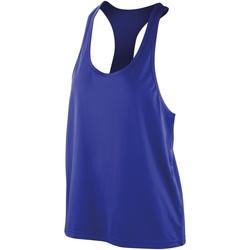textil Dam Linnen / Ärmlösa T-shirts Spiro S285F Safir