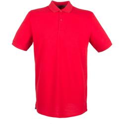 textil Herr Kortärmade pikétröjor Henbury HB101 Klassiskt röd