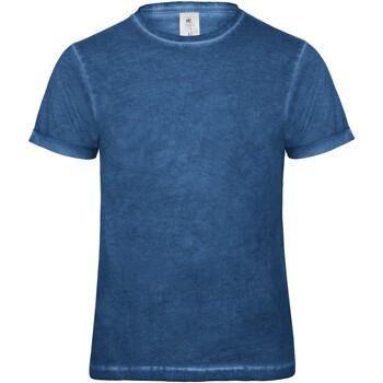 textil Herr T-shirts B And C BA801 Blå sammandrabbning