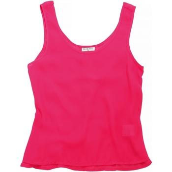 textil Dam Linnen / Ärmlösa T-shirts Brave Soul BS163 Bubblegum rosa