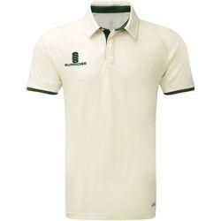 textil Herr Kortärmade pikétröjor Surridge SU013 Vit/grön trim