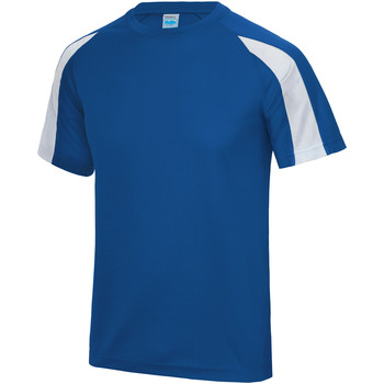 textil Herr T-shirts Just Cool JC003 Kunglig blå/ Arctic White