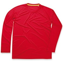 textil Herr Långärmade T-shirts Stedman  Crimson Red