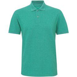 textil Herr Kortärmade pikétröjor Asquith & Fox Twisted Grön melange