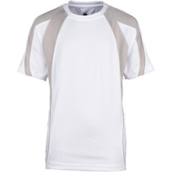 textil Pojkar T-shirts Rhino RH40B Vit/grå