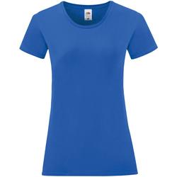 textil Dam T-shirts Fruit Of The Loom 61432 Kunglig blå