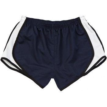 textil Dam Shorts / Bermudas Boxercraft Velocity Marinblått/ svart-vit