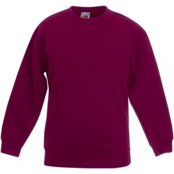 textil Barn Sweatshirts Fruit Of The Loom  Bourgogne