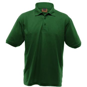 textil Herr Kortärmade pikétröjor Ultimate Clothing Collection UCC004 Flaskegrön