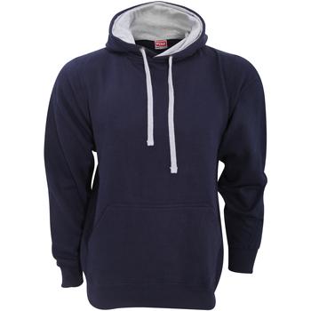 textil Herr Sweatshirts Fdm FH002 Marinblått/lädergrått