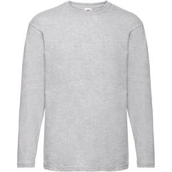 textil Herr Långärmade T-shirts Fruit Of The Loom 61038 Grått