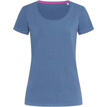 textil Dam T-shirts Stedman Stars  Denim blå