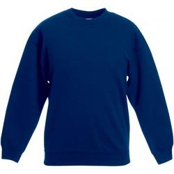textil Barn Sweatshirts Fruit Of The Loom SS801 Marinblått