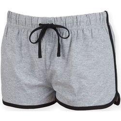 textil Dam Shorts / Bermudas Skinni Fit SK069 Grått/ svart