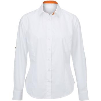 textil Dam Skjortor / Blusar Alexandra AX060 Vit/ orange
