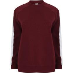 textil Sweatshirts Skinni Fit SF523 Bourgogne/vit