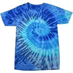 textil Dam T-shirts Colortone Rainbow Blå Jerry
