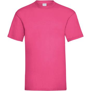 textil Herr T-shirts Universal Textiles 61036 Varmrosa