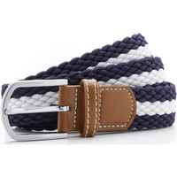 Accessoarer Herr Bälten Asquith & Fox Two Colour Stripe Marinblått/vit