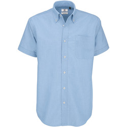 textil Herr Kortärmade skjortor B And C SMO02 Oxford Blue
