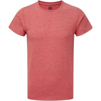 textil Pojkar T-shirts Russell R165B Röd marl