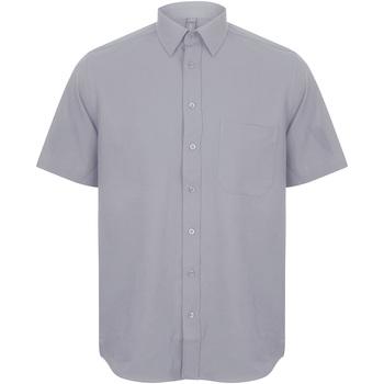 textil Herr Kortärmade skjortor Henbury HB595 Skiffergrått