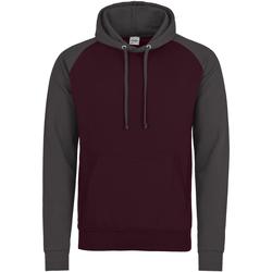 textil Herr Sweatshirts Awdis JH009 Burgundy/Charcoal
